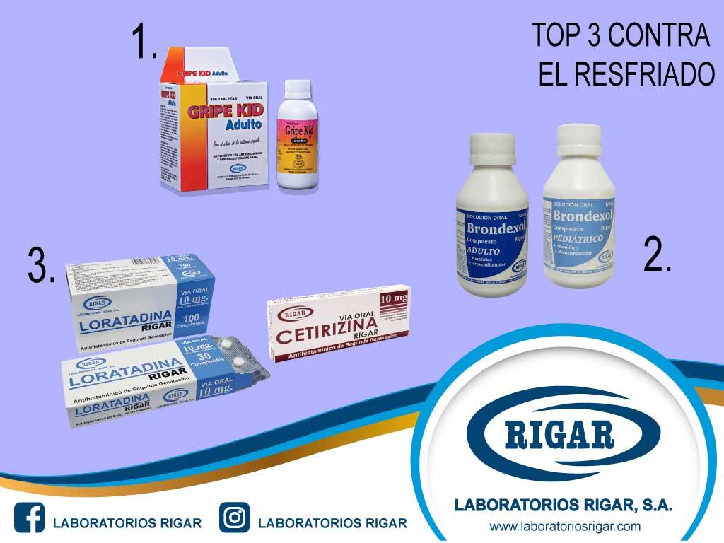 Top 3 medicamentos contra el resfriado